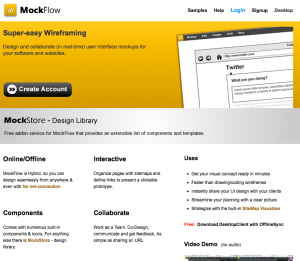 home page for mockflow
