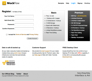 The next stage in the user flow for mockflow